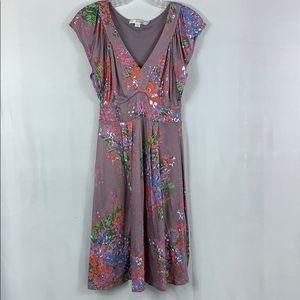 Boden Floral Sleeveless A-Line Dress New Size SP